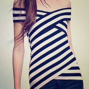Black & white stripe top - Bailey 44 NWOT